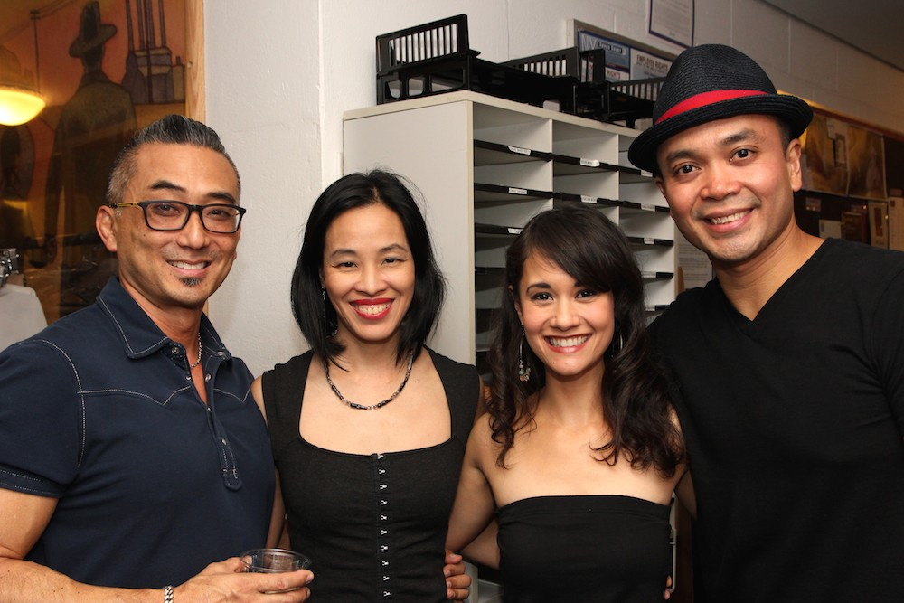 Paul Nakauchi, Lia Chang, Ali Ewoldt and Jose Llana backstage at the Vivian Beaumont Theater after The Actors Fund Special Performance of The King and I on September 20, 2015. Photo by Erin Quill