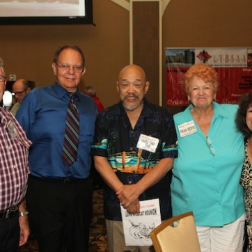 Dale Reese, Riki Kline, Russ Chang, Fran Reese and Becki Lewis attend the 2015 37th Anniversary - Annual Wildcat Reunion at The Orleans Hotel and Casino in Las Vegas, NV on September 26, 2015. Photo by Lia Chang