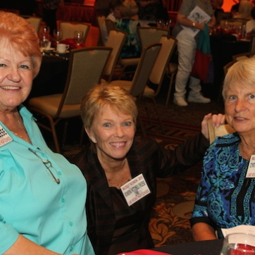 Fran Reese, Rowena Mitchell Thiess, Cynthia Woodruff Smith attend the 2015 37th Anniversary - Annual Wildcat Reunion at The Orleans Hotel and Casino in Las Vegas, NV on September 26, 2015. Photo by Lia Chang