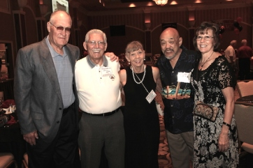 Jim Keeton, Cecil and Darlene Wynn, Russ Chang and Lynne Keeton attend the 2015 37th Anniversary - Annual Wildcat Reunion at The Orleans Hotel and Casino in Las Vegas, NV on September 26, 2015. Photo by Lia Chang