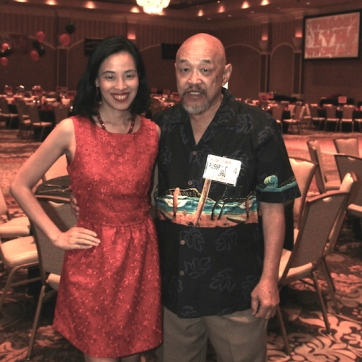 Lia Chang and her father LVHS Class of 1960 alumnus Russ Chang attends the 2015 37th Anniversary - Annual Wildcat Reunion at The Orleans Hotel and Casino in Las Vegas, NV on September 26, 2015.