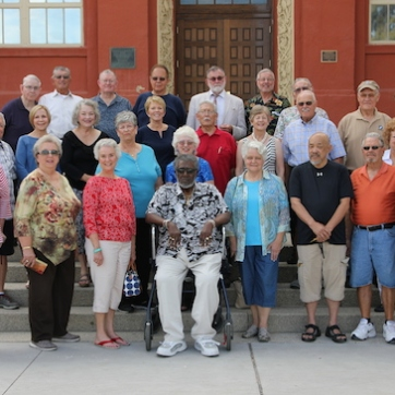 LVHS Class of 1960 alumni at Las Vegas High School in Las Vegas, NV on September 26, 2015. Photo by Lia Chang