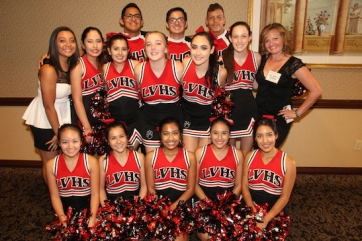 LVHS Cheerleaders at the 2015 37th Anniversary - Annual Wildcat Reunion at The Orleans Hotel and Casino in Las Vegas, NV on September 26, 2015. Photo by Lia Chang