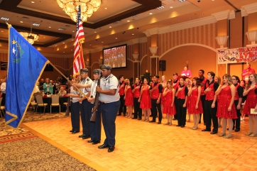 LVHS Color Guard & LVHS Spectrum perform at the 2015 37th Anniversary - Annual Wildcat Reunion at The Orleans Hotel and Casino in Las Vegas, NV on September 26, 2015. Photo by Lia Chang