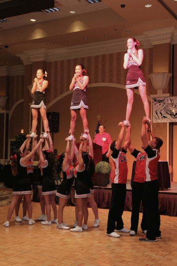 LVHS Cheerleaders perform at the 2015 37th Anniversary - Annual Wildcat Reunion at The Orleans Hotel and Casino in Las Vegas, NV on September 26, 2015. Photo by Lia Chang