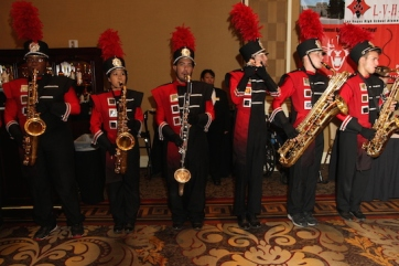 The LVHS Marching Band performs at the 2015 37th Anniversary - Annual Wildcat Reunion at The Orleans Hotel and Casino in Las Vegas, NV on September 26, 2015. Photo by Lia Chang