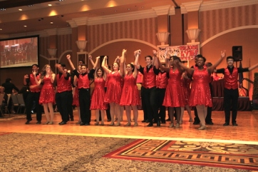 The LVHS Spectrum performs at the 2015 37th Anniversary - Annual Wildcat Reunion at The Orleans Hotel and Casino in Las Vegas, NV on September 26, 2015. Photo by Lia Chang