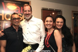 Paul Nakauchi, Ted Sperling, Ruthie Ann Miles, Kristen Faith Oei backstage at the Vivian Beaumont Theater after The Actors Fund Special Performance of The King and I on September 20, 2015. Photo by Lia Chang