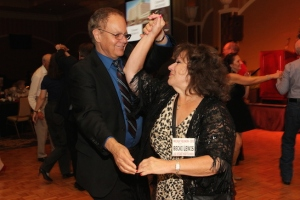 LVHS Class of 1960 alumnus Riki Kline and Becki Lewis dance the night away at the 2015 37th Anniversary - Annual Wildcat Reunion at The Orleans Hotel and Casino in Las Vegas, NV on September 26, 2015. Photo by Lia Chang
