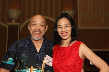 LVHS Class of 1960 alumnus Russ Chang and his daughter Lia Chang attends the 2015 37th Anniversary - Annual Wildcat Reunion at The Orleans Hotel and Casino in Las Vegas, NV on September 26, 2015.