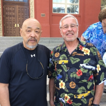 LVHS Class of 1960 alumni Russ Chang and Mike Kessler at Las Vegas High School in Las Vegas, NV on September 26, 2015. Photo by Lia Chang