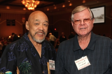 LVHS Class of 1960 alumni Russ Chang and Philip Lovan attend the 2015 37th Anniversary - Annual Wildcat Reunion at The Orleans Hotel and Casino in Las Vegas, NV on September 26, 2015. Photo by Lia Chang