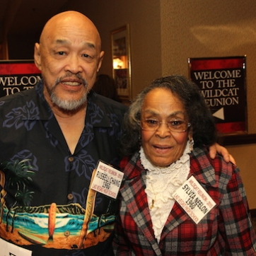 LVHS Class of 1960 alumni Russ Chang and Sylvia Neelon attend the 2015 37th Anniversary - Annual Wildcat Reunion at The Orleans Hotel and Casino in Las Vegas, NV on September 26, 2015. Photo by Lia Chang