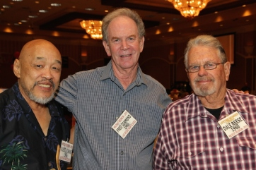 LVHS Class of 1960 alumni Russ Chang, Fred Diamond and Dale Reese attend the 2015 37th Anniversary - Annual Wildcat Reunion at The Orleans Hotel and Casino in Las Vegas, NV on September 26, 2015. Photo by Lia Chang