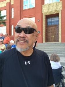 LVHS Class of 1960 alumnus Russ Chang at Las Vegas High School in Las Vegas, NV on September 29, 2015. Photo by Lia Chang