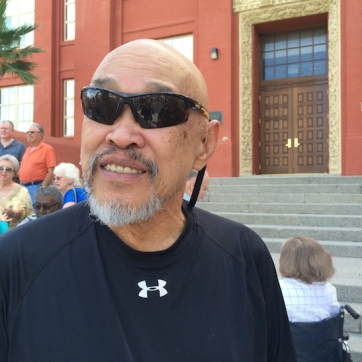 LVHS Class of 1960 alumnus Russ Chang at Las Vegas High School in Las Vegas, NV on September 29, 2015. Photo by Lia Chang