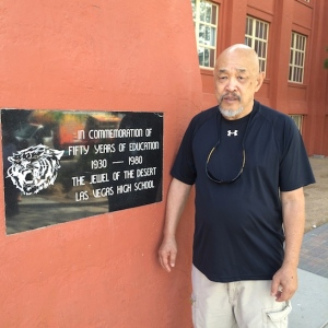 LVHS Class of 1960 alumnus Russ Chang at Las Vegas High School in Las Vegas, NV on September 26, 2015. Photo by Lia Chang