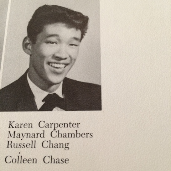 A photo of Russ Chang from his 1960 LVHS yearbook.