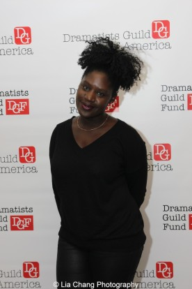 2014-2015 DG Fellow Camille Darby attends the 2014-2015 DG Fellows Presentation at Playwrights Horizons in New York on October 19, 2015. Photo by Lia Chang