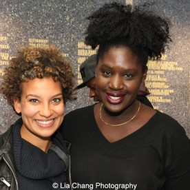 Eljon Wardally and 2014-2015 DG Fellow Camille Darby at the 2014-2015 DG Fellows Presentation at Playwrights Horizons in New York on October 19, 2015. Photo by Lia Chang