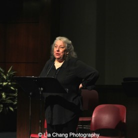 Jayne Houdyshell performs at the 2014-2015 DG Fellows Presentation at Playwrights Horizons in New York on October 19, 2015. Photo by Lia Chang