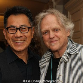 """Screening of """"The Killing Fields of Dr. Haing S. Ngor,"""" International House, October 22, 2015, New York. (L-R) Director Arthur Dong and Jim Fouratt. Photo by Lia Chang"""