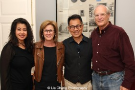 "Screening of ""The Killing Fields of Dr. Haing S. Ngor,"" International House, October 22, 2015, New York. (L-R) Sophia Ngor, Dr. Ngor's niece and film subject. author Patty McMillan, Arthur Dong and Paul Critchlow. Photo by Lia Chan"