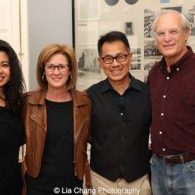"""Screening of """"The Killing Fields of Dr. Haing S. Ngor,"""" International House, October 22, 2015, New York. (L-R) Sophia Ngor, Dr. Ngor's niece and film subject. author Patty McMillan, Arthur Dong and Paul Critchlow. Photo by Lia Chan"""