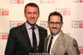 Andrew Lippa and David Bloch attend the Dramatists Guild Fund's Gala: 'Great Writers Thank Their Lucky Stars' at Gotham Hall on October 26, 2015 in New York City. Photo by Lia Chang