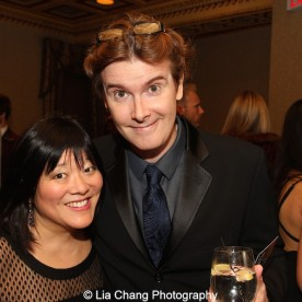Ann Harada and Laurence O'Keefe attend the Dramatists Guild Fund's Gala: 'Great Writers Thank Their Lucky Stars' at Gotham Hall on October 26, 2015 in New York City. Photo by Lia Chang