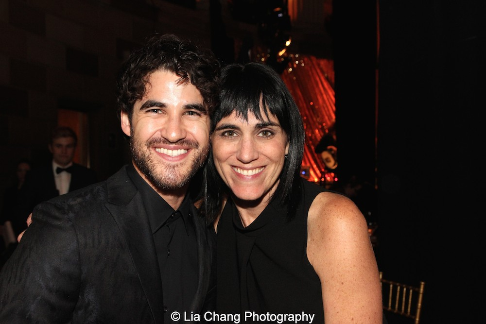 Darren Criss and Leigh Silverman attend the Dramatists Guild Fund's Gala: 'Great Writers Thank Their Lucky Stars' at Gotham Hall on October 26, 2015 in New York City. Photo by Lia Chang