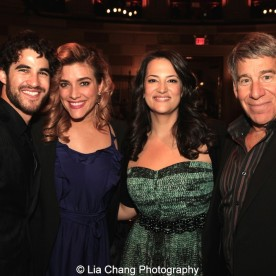 Darren Criss, Mia Swier, Eleni Gianulis and Stephen Schwartz attend the Dramatists Guild Fund's Gala: 'Great Writers Thank Their Lucky Stars' at Gotham Hall on October 26, 2015 in New York City. Photo by Lia Chang