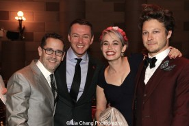 David Bloch, Andrew Lippa, Jemima Williams and her fiancé Benjamin Scheuer attend the Dramatists Guild Fund's Gala: 'Great Writers Thank Their Lucky Stars' at Gotham Hall on October 26, 2015 in New York City. Photo by Lia Chang