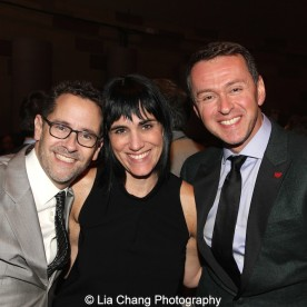 David Bloch, Leigh Silverman and Andrew Lippa attend the Dramatists Guild Fund's Gala: 'Great Writers Thank Their Lucky Stars' at Gotham Hall on October 26, 2015 in New York City. Photo by Lia Chang