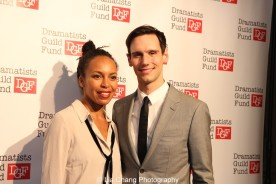 Eisa Davis and Corey Michael Smith attend the Dramatists Guild Fund's Gala: 'Great Writers Thank Their Lucky Stars' at Gotham Hall on October 26, 2015 in New York City. Photo by Lia Chang