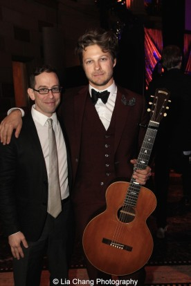 Garth Kravits and Benjamin Scheuer attend the Dramatists Guild Fund's Gala: 'Great Writers Thank Their Lucky Stars' at Gotham Hall on October 26, 2015 in New York City. Photo by Lia Chang