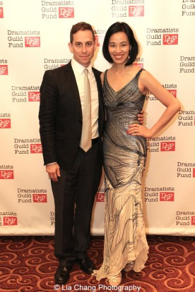 Garth Kravits and Lia Chang attend the Dramatists Guild Fund's Gala: 'Great Writers Thank Their Lucky Stars' at Gotham Hall on October 26, 2015 in New York City. Photo by Laura Heywood