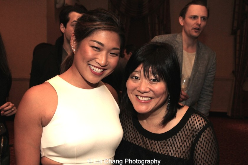 Jenna Ushkowitz and Ann Harada attend the Dramatists Guild Fund's Gala: 'Great Writers Thank Their Lucky Stars' at Gotham Hall on October 26, 2015 in New York City. Photo by Lia Chang
