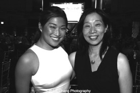 Jenna Ushkowitz and Diana Son attend the Dramatists Guild Fund's Gala: 'Great Writers Thank Their Lucky Stars' at Gotham Hall on October 26, 2015 in New York City. Photo by Lia Chang