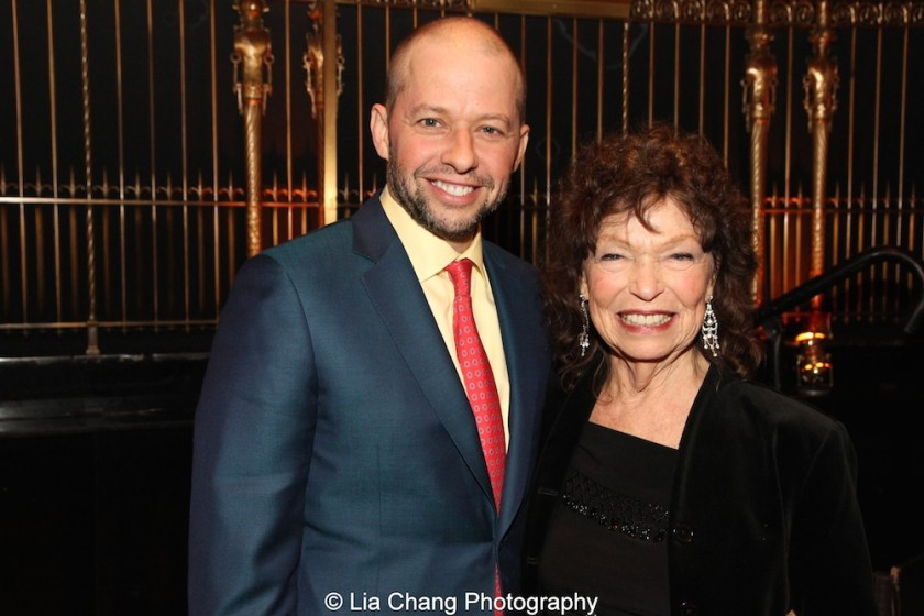 Jon Cryer and his mom Gretchen Cryer attend the Dramatists Guild Fund's Gala: 'Great Writers Thank Their Lucky Stars' at Gotham Hall on October 26, 2015 in New York City. Photo by Lia Chang