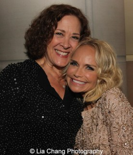 Karen Ziemba and Kristin Chenoweth attend the Dramatists Guild Fund's Gala: 'Great Writers Thank Their Lucky Stars' at Gotham Hall on October 26, 2015 in New York City. Photo by Lia Chang