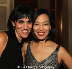 Leigh Silverman and Lia Chang attend the Dramatists Guild Fund's Gala: 'Great Writers Thank Their Lucky Stars' at Gotham Hall on October 26, 2015 in New York City. Photo by Garth Kravits