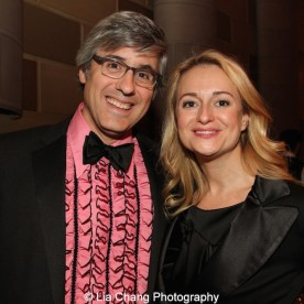 Mo Rocca and Nell Benjamin attend the Dramatists Guild Fund's Gala: 'Great Writers Thank Their Lucky Stars' at Gotham Hall on October 26, 2015 in New York City. Photo by Lia Chang