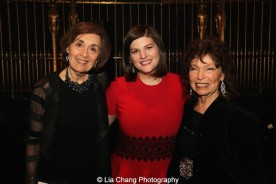 Nancy Ford, Rachel Routh and Gretchen Cryer attend the Dramatists Guild Fund's Gala: 'Great Writers Thank Their Lucky Stars' at Gotham Hall on October 26, 2015 in New York City. Photo by Lia Chang