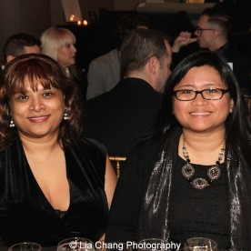 2014-2015 DG Fund Fellows Naveen Bahar Choudhury and Kristine M. Reyes attend the Dramatists Guild Fund's Gala: 'Great Writers Thank Their Lucky Stars' at Gotham Hall on October 26, 2015 in New York City. Photo by Lia Chang
