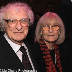 Sheldon Harnick and Margery Gray Harnick attend the Dramatists Guild Fund's Gala: 'Great Writers Thank Their Lucky Stars' at Gotham Hall on October 26, 2015 in New York City. Photo by Lia Chang