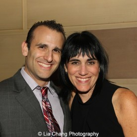 Stephen Kaplan and Leigh Silverman attend the Dramatists Guild Fund's Gala: 'Great Writers Thank Their Lucky Stars' at Gotham Hall on October 26, 2015 in New York City. Photo by Lia Chang