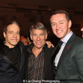 Steven Sater, Stephen Schwartz and Andrew Lippa attend the Dramatists Guild Fund's Gala: 'Great Writers Thank Their Lucky Stars' at Gotham Hall on October 26, 2015 in New York City. Photo by Lia Chang