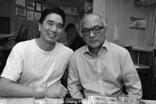 Greg Watanabe and Frank Abe at Sapporo in New York on October 8, 2015. Photo by Lia Chang
