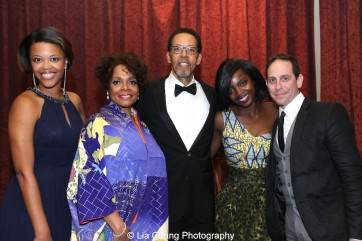 Alana Barrett-Adkins, Denise Burse Fernandez and her husband Peter Jay Fernandez, MaameYaa Boafo and Garth Kravits attend the 30th anniversary benefit gala of Beth-Hark Christian Counseling Center, Inc. at Terrace on the Park in Flushing Meadows Park, NY on October 9, 2015. Photo by Lia Chang